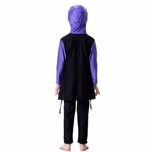 Image 2 - YONGSEN Islamic Muslim Swimwear 2020 Girl Hijab Maillot de bain Burkinis Modest Plus Size Brand Swimsuit Long Sleeve Bathing