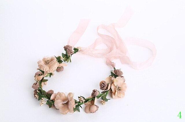 Bride Girls Headwear Wedding Accesories Garland Champagne Flowers for Hair Bridal Chapeau De Mariage Voiles Marriage 2016