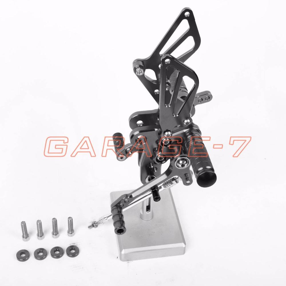 A New Titanium color CNC Rearsets Foot Rests Rear Set For SUZUKI GSXR 1300 Hayabusa 1999-2007 Hayabusa  Motorcycle Foot Pegs