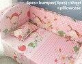 2016! 6 unids bebé juego de cama jogo de cama infantil cama berco de bebe cunas ( bumpers + hojas + almohada cubre )