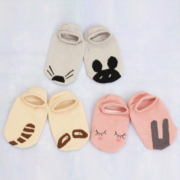 Newest Cartoon Design Baby Girls Boys Toddler Boat Socks Spring Cotton Socks 0-4Y