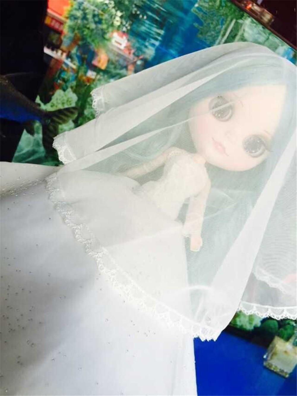 Neo Blythe Doll White Wedding Dress 5