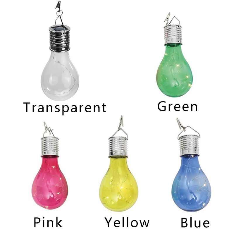 แฟชั่นที่มีสีสัน LED โคมไฟพลังงานแสงอาทิตย์สวน Camping แขวนกลางแจ้งที่สวยงามตกแต่งหลอดไฟ LED กันน้ำ LED