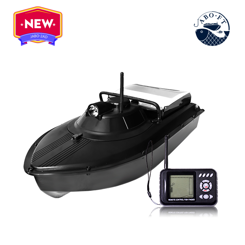Free shipping cheap jabo bait boat 2BD 32Ah with carrying bag for jabo rc fishing tools free shipping factory price catamaran hull jabo 5a long distance two hoppers rc bait boat for releasing hook
