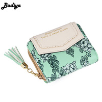 European And American Women Wallets Korean Floral Small Wallet Sweet Female Clutch Purses Delicate Flower Carteira