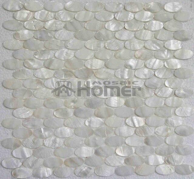 Weiss Perlmutt Fliesen Oval Mosaik Fur Wand Mosaik Fliesen Weiss Oval