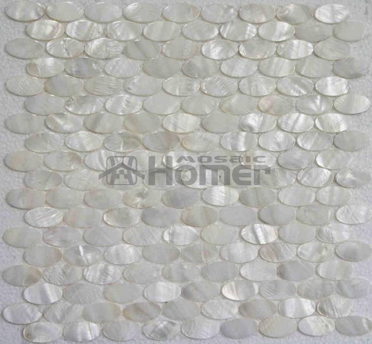 Ongebruikt Wit parelmoer tegels ovale mozaïek voor muur mozaïek tegels wit XW-71