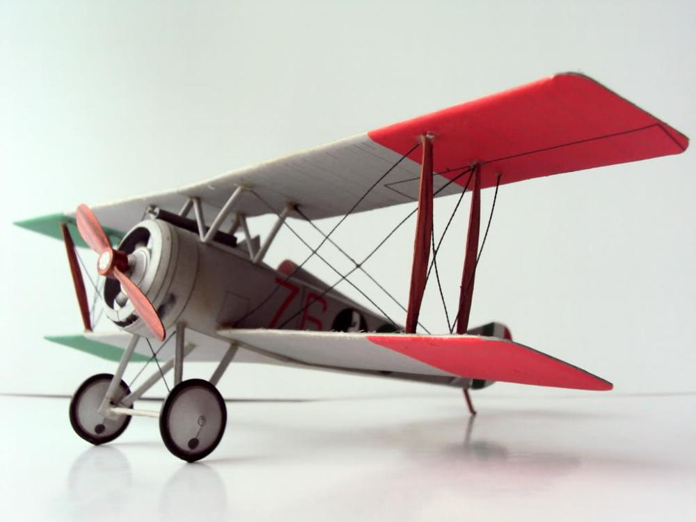 DIY Paper Model French Fighter Hanriot Hd-1 WW I Boy Gift Papercraft 3D Puzzle