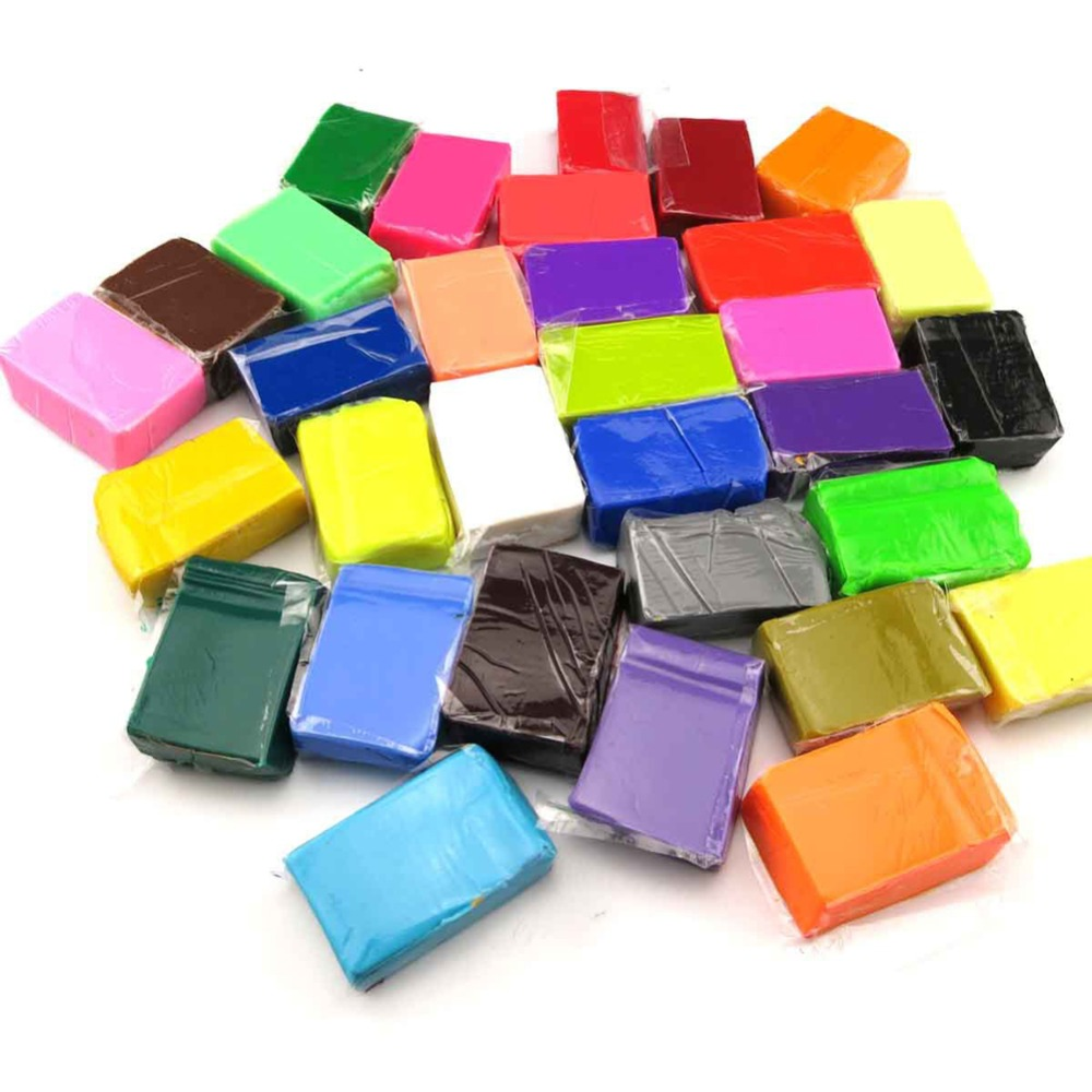 32Colos Polymer Clay Blocks Children Kids Indoor DIY Handmade Modeling Toy Soft Fimo Playdough Educational Toy With 3 Tools K5BO