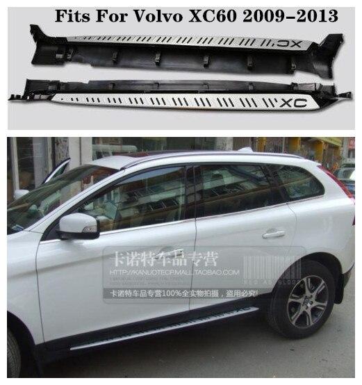 Pédales latérales de haute qualité de marchepied de voiture d'alliage d'aluminium convient pour Volvo XC60 2009.2010.2011.2012.2013