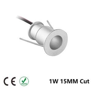 Image 3 - Mini Spot lumineux circulaire en aluminium pour le plafond, éclairage dextérieur, éclairage dextérieur, éclairage de plafond, échantillon de plafond, idéal pour un jardin ou une salle de bain, 1W, 15/25MM, dc 12v LED