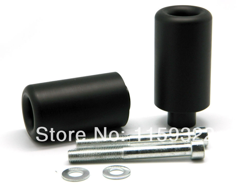Motorcycle Parts Black Delrin Crash Protector For 2007-2008 Suzuki GSXR GSX-R 1000 Frame Sliders