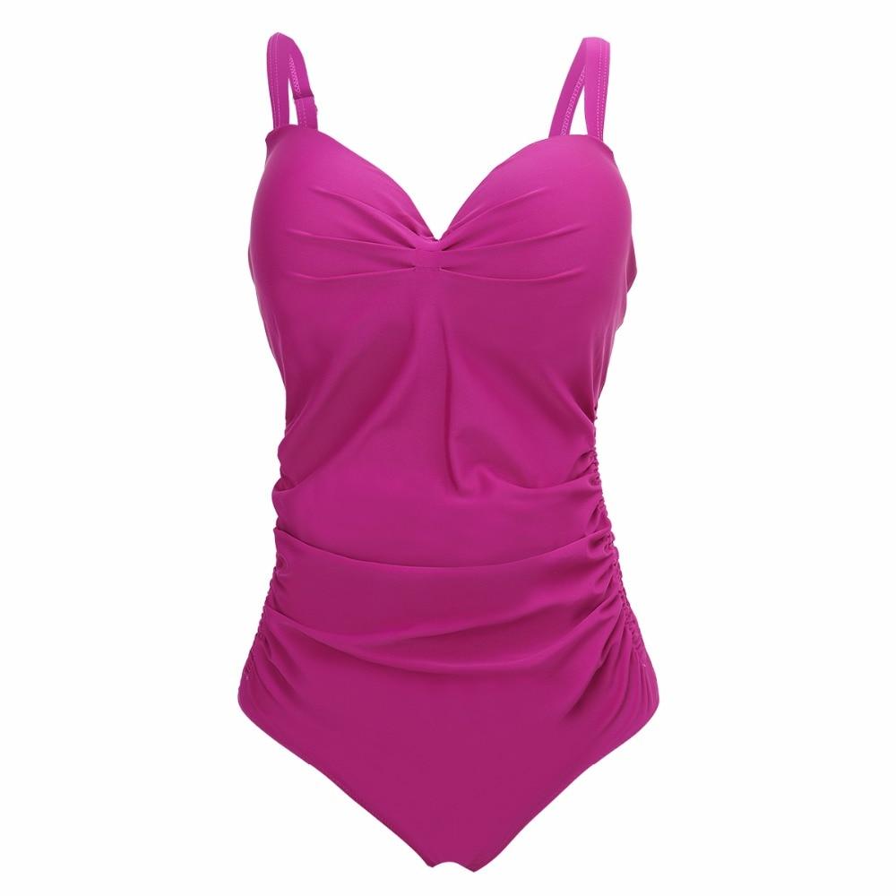 Swimsuit One Piece Swimwear Plus Size XXL-5XL Retro Women Bikini Bandage Bathing Suit Large Size Push Up One Piece Swimming Suit