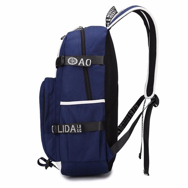 Uzumaki Naruto Printed Backpack with USB Port (2 types)
