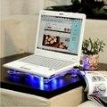 USB Notebook Cooler Охлаждения ноутбука Колодки 3 Вентиляторы для Портативных ПК База Компьютер Охлаждающая подставка с синей подсветкой