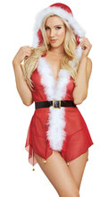 New Xmas Sleepwear Sexy Erotic Lingerie Teddy Nightwear Party Christmas Santa Cosplaying Costumes