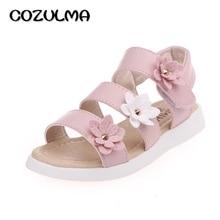 COZULMA Girls Sandals Summer Shoes Flowers Roman Gladiator Shoes Tassel Toddler Little Kids Big Kids Princess Sandals Child Shoe