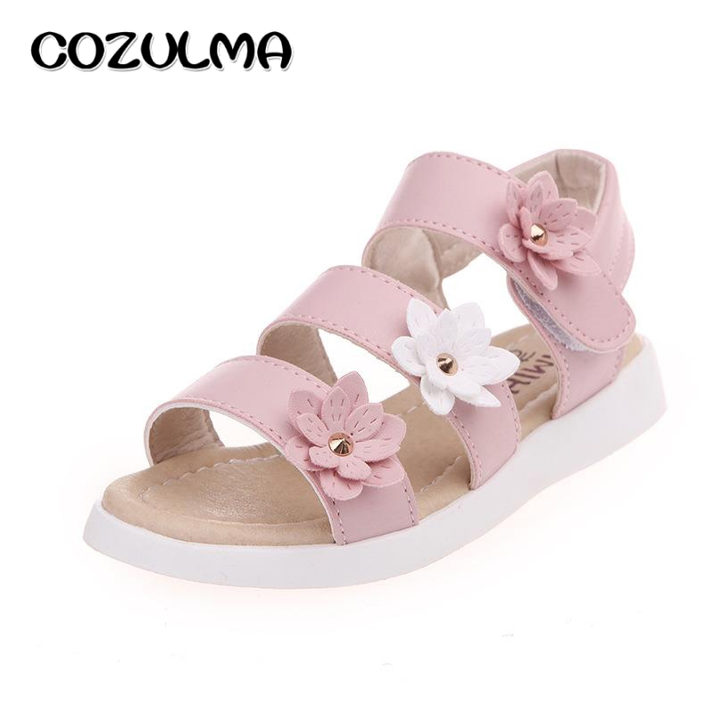 COZULMA Sandali per ragazza Scarpe estive Fiori Gladiatore romano Scarpe Nappa Toddler Little Kids Big Kids Sandali principessa Child Shoe