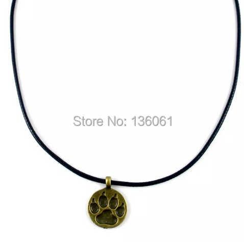 בציר כסף/ברונזה דוב טופר קסם עור צווארון קולר הצהרת שרשרת תליוני תכשיטים לאישה חמה X932