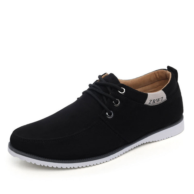 Man Soft Casual Shoes Suede Leather Flats Men's Solid Color Low Top Flat Shoes Male Footwear Mocasines Zapatos Hombre XK072525