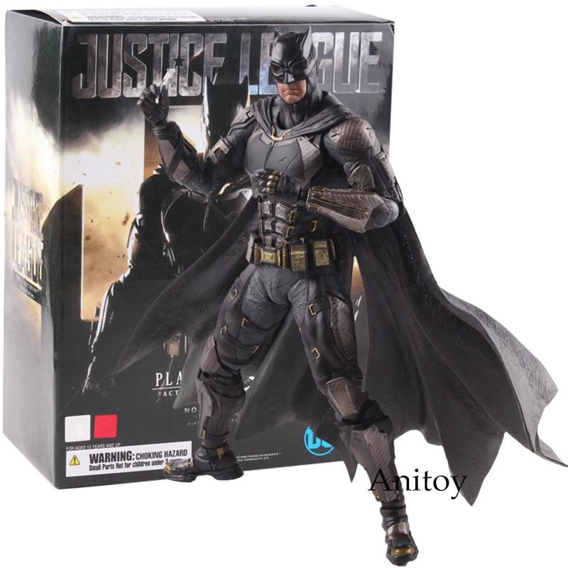 DC Justice League Play Arts Kai Action Figure No.1 Batman Tactical Suit Ver. PVC Batman Dolls Collectible Model Toy 25cm аксессуар gembird cablexpert dvi d single link 19m 19m 1 8m black cc dvi bk 6