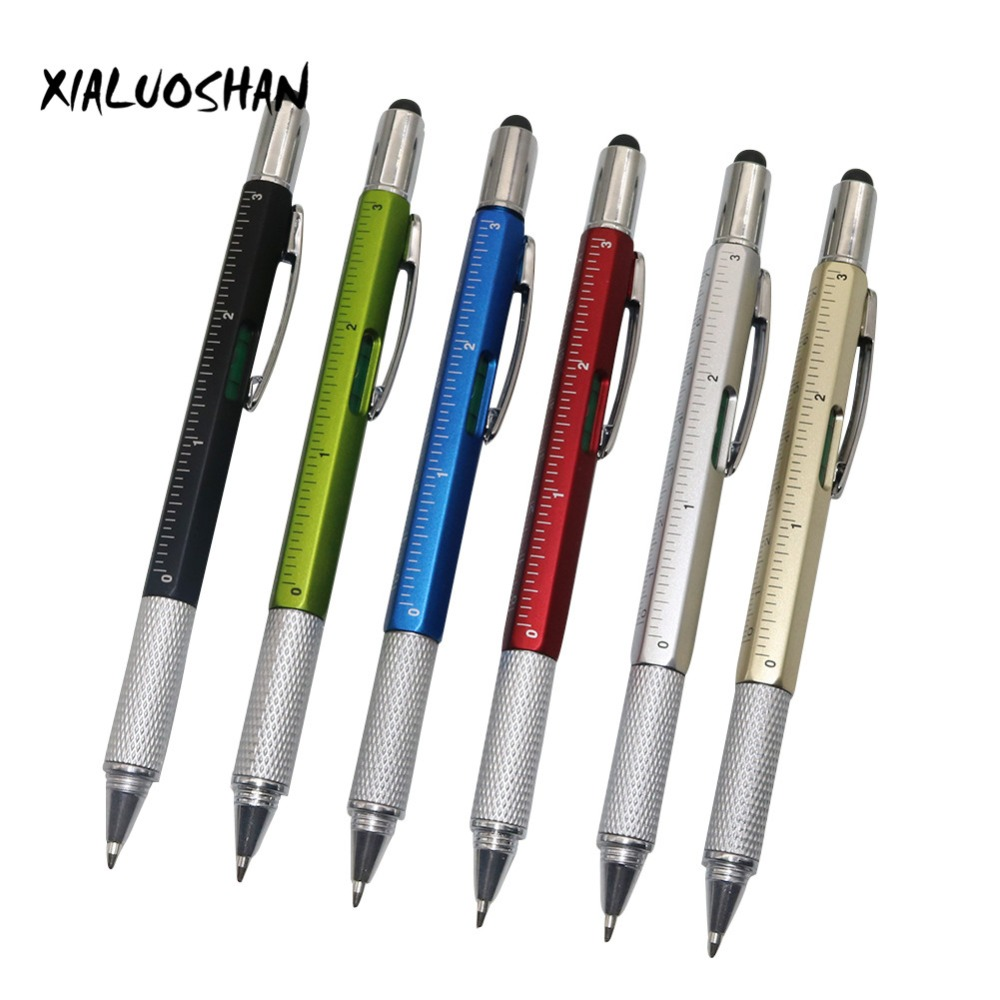 60 pcs/set Multifunction 6 in 1 Ballpoint Pen New set 6 colors optional Functional ballpoint pen Student supplies wlxy wl 15b multi functional stainless steel 6 in 1 repair tweezers set silver 6 pcs