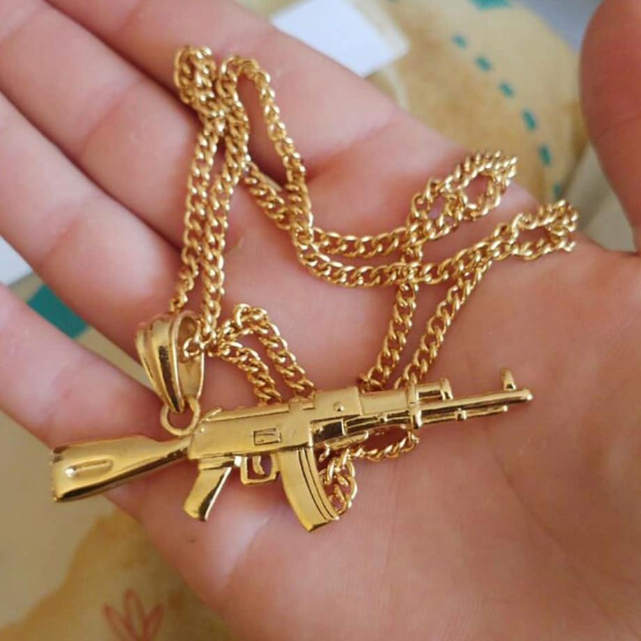 Hiphop Punk Gun κολιέ κρεμαστό κόσμημα - Κοσμήματα μόδας - Φωτογραφία 5