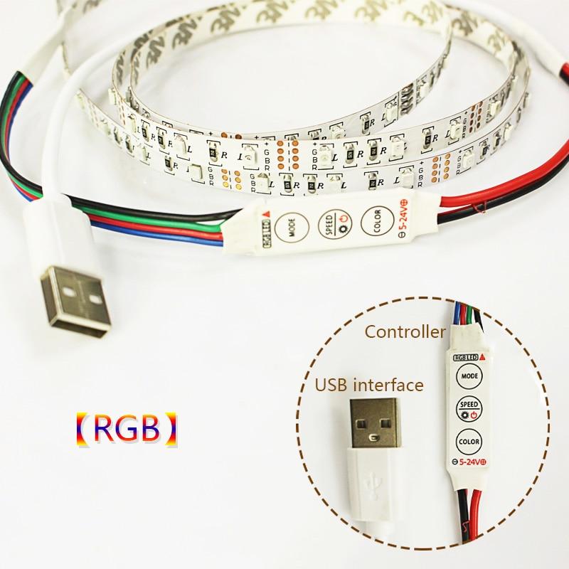 1M / 2M / 3M / 5M USB LED-es szalagfény 60leds / m DC 5v 3528 SMD - LED Világítás - Fénykép 3