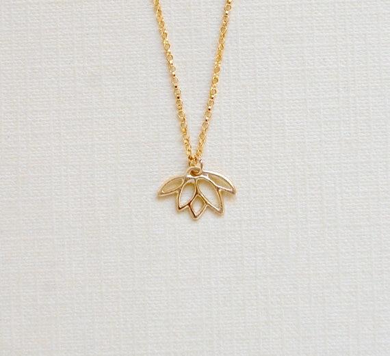 Date Liste Bijoux Collier, or/Argent Lotus Pendentif Collier, Plante Fleur Bijoux Collier-30 pcs/lot