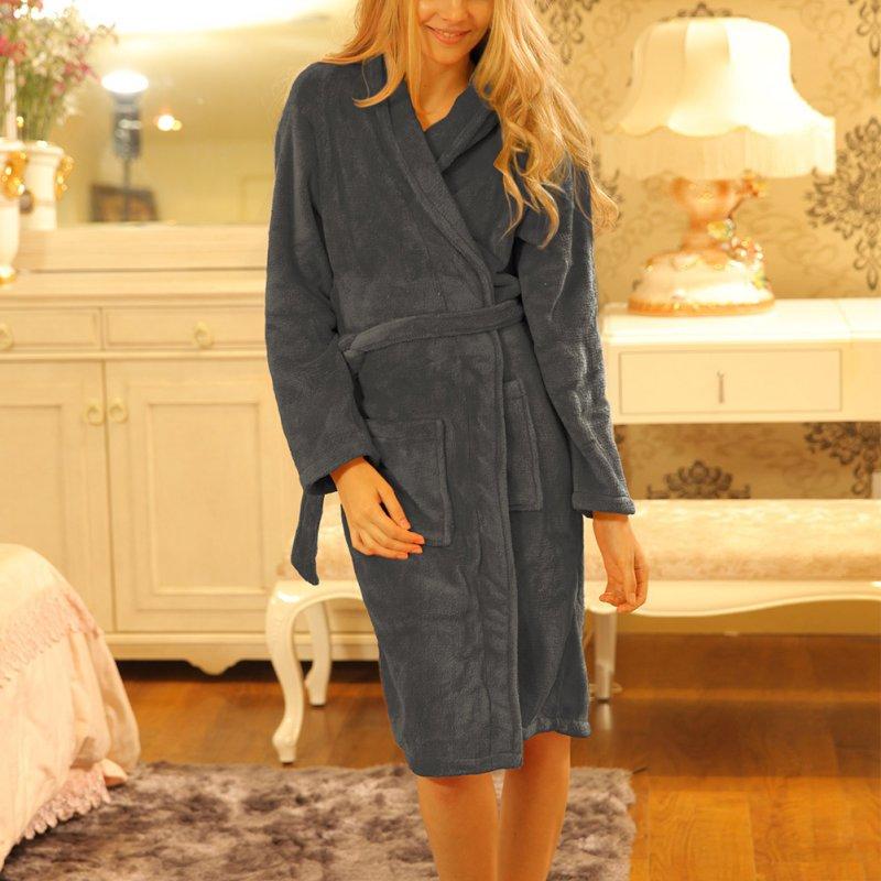 Top Leisurewear Comfortable Loose Women Pajamas Homewear Long Sleeve Sleepwear Bathrobe Spa Long Robe
