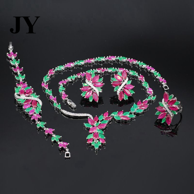 JY Fashion New Fashion White Zircon Luxury Earring Party Necklace For Women Best Love Gift For Friend Charm Vintage Jewelry Set