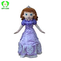 New Design Princess Sofia Mascot Costumes Women Sofia Halloween Christmas Cosplay Mascot Costume for Adult Party Cosplay Costume