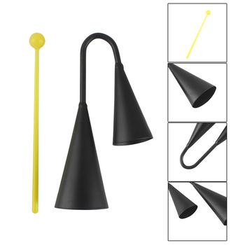 Wysokiej jakości dwukolorowy metalowy dzwonek a-go Bell Cowbell instrument perkusyjny z napastnikiem tanie i dobre opinie NoEnName_Null 0 121 GMML110128