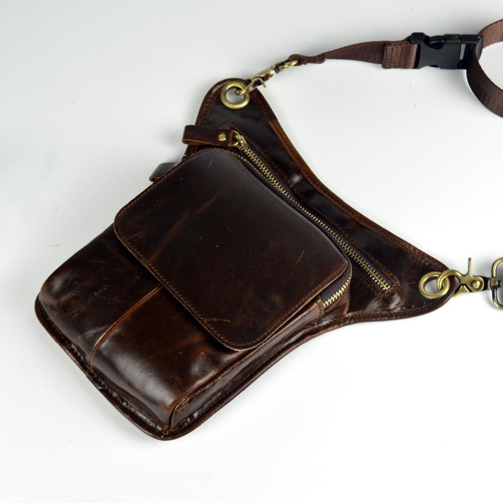 couro messenger sacolas para homens Formato : Travesseiro