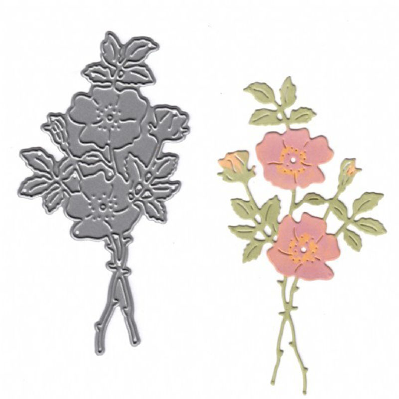 4 Pieces Flowers Cutting Dies 2019 Metal Stencil Template Flower Mould for DIY Crafts Scrapbook Album Paper Card Embossing