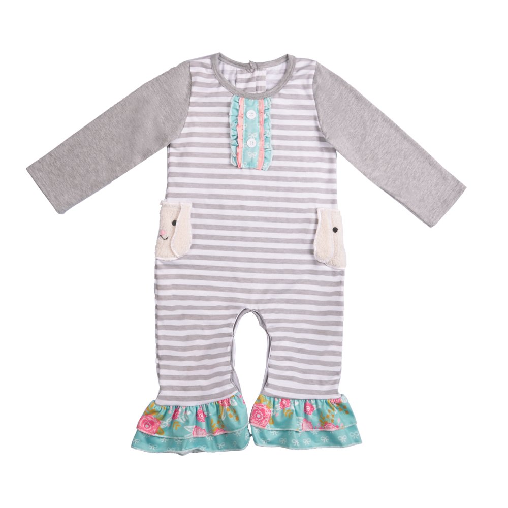 Easter Clothing Wholesale Summer Boutique Animal Costume Baby Ruffle   Romper   Match Boy Short Sleeves   Romper   GPF511-359-HY