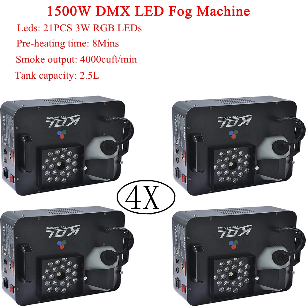 2018 Sales 4XLot 1500W Vertical Fog Machine DMX512 Control Smoke Effects Hazer For Stage DJ Club Event Wedding Show