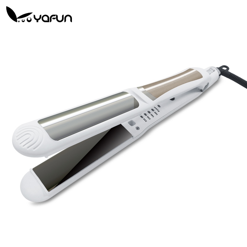 Professional Adjustable Temperature Hair Straightening Straightener Irons Flat Iron Straightening Styling Tools professional vibrating titanium hair straightener digital display ceramic straightening irons flat iron hair styling tools