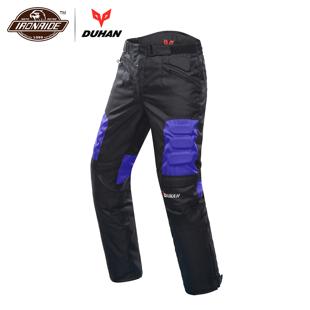 DUHAN Motorcycle Pants Men Motorbike Hip Protector Moto Pants Armor Trousers Protective Gear Motocross Ridig Pants