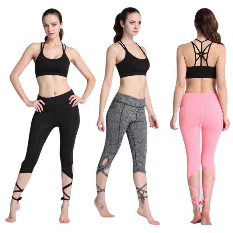 Women Ballerina Yoga Pants High Waist Sport Leggings Fitness Cross Yoga Ballet Dance Tight Bandage Cropped Pants Sports New