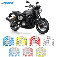 Motorcycle front and rear wheels Edge Outer Rim Sticker Reflective Stripe Wheel Decals For YAMAHA XJR keoghs motorcycle front wheel rim 10 inch 57mm brake disc install 10mm axle hole for yamaha scooter force rsz jog modify