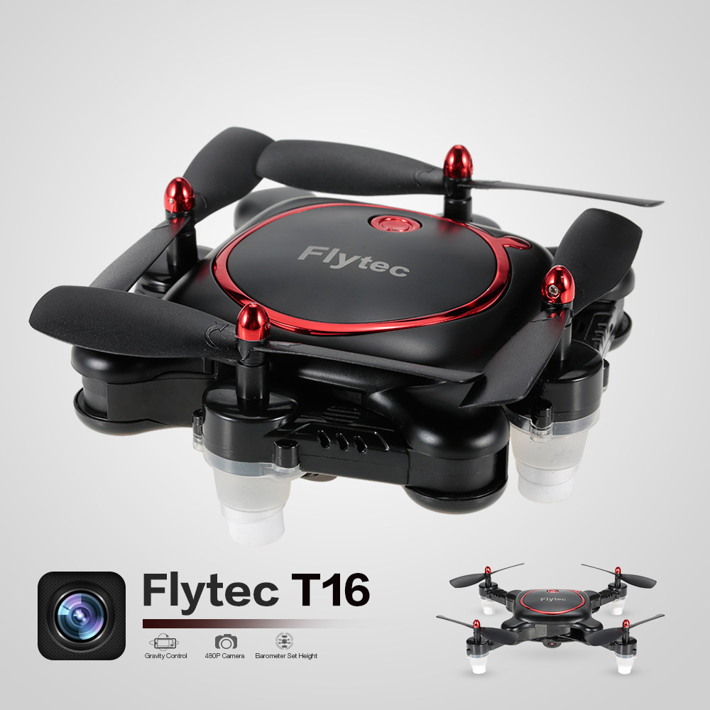 цена Flytec RC Mini Drone T16 480P Camera Wifi FPV Mini Folding Pocket Quadcopter Optical Flow Selfie G-Sensor Mode 2 RC Helicopter