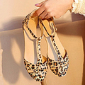 Hot Best Women's Summer Fashion Beach Casual Sandals Leopard Print Flat Heel Shoes