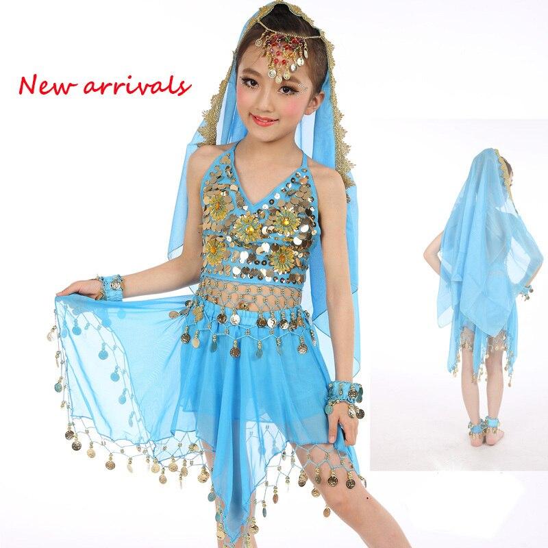 2017 New Arrivals Cheap Indian Dance Dress Kids Belly Dance Costume