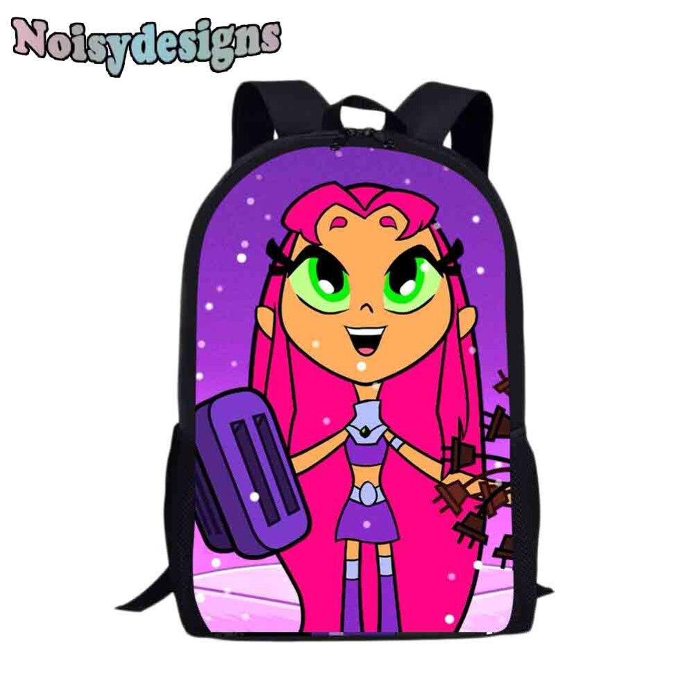 Teen Titan Gehen Druck Schule Tasche für Kinder Mädchen Rucksack Preppy Kinder Schule Bleistift Tasche Kleinkind Schul Einfache Stil