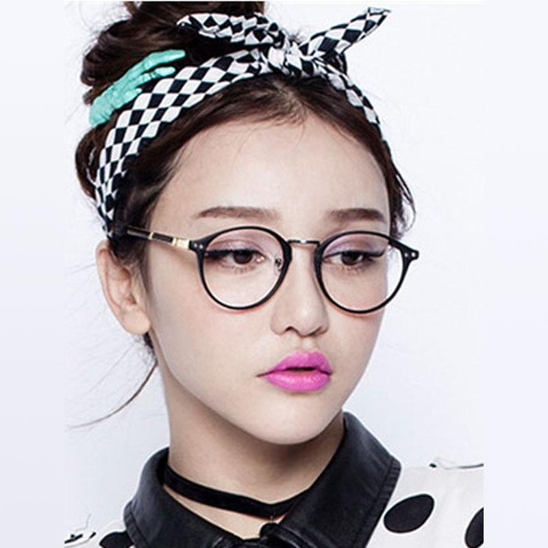 2015 New Korean Pop Lovely Round Metal Frame Spectacles Plain