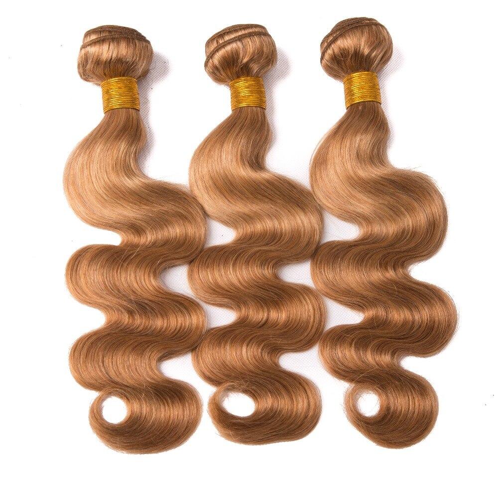 Blonde Bundles Body Wave Bundles Βραζιλιάνικες - Ανθρώπινα μαλλιά (για μαύρο) - Φωτογραφία 4