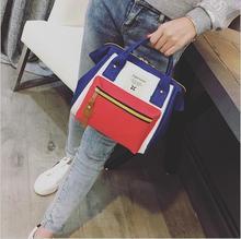 цены Good Fashion Casual Style Bag Canvas Travel bag. Women Bag School Backpacks For Teenage Girls Black Bag Schoolbag with 5 Colors.
