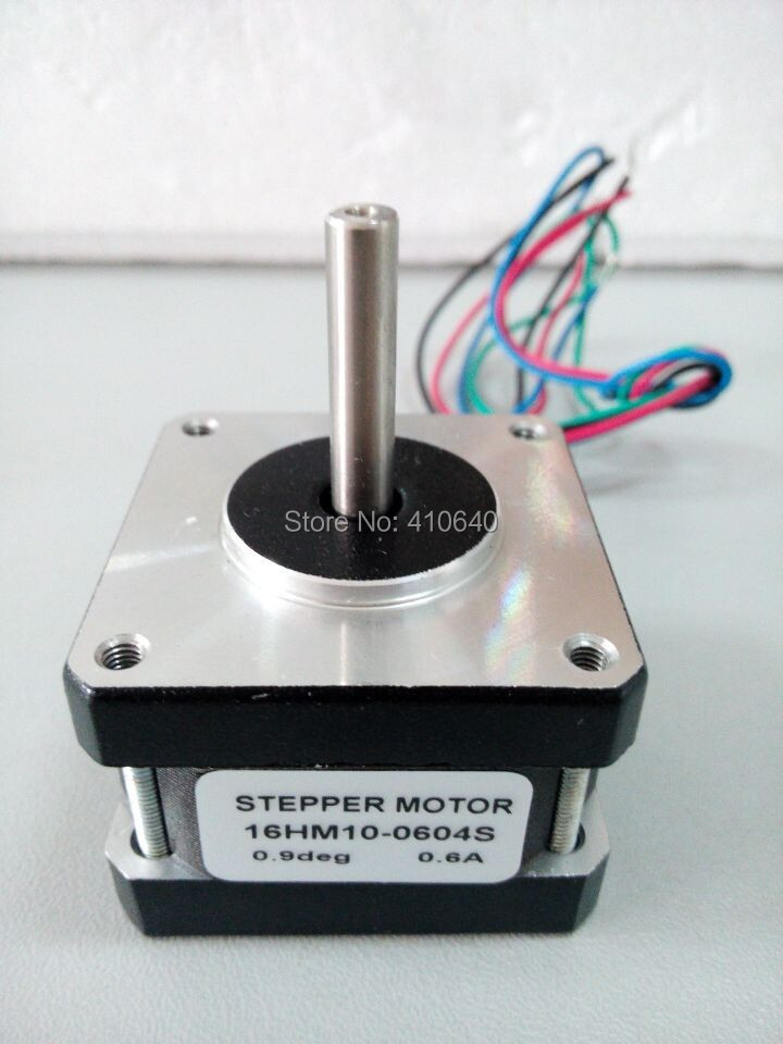 FREE SHIPPING stepper motor 16HM10-0604S L 25 mm NEMA 16 with 0.9 deg 0.6 A 16 N.cm and bipolar 4 lead wires 12 pcs per lot 50pcs free shipping bc338 25 bc338 to 92 bipolar transistors