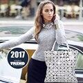 2017 Marca de Luxo Bolsa BaoBao Sacos de Alta Qualidade Mulheres Europeia Saco de mão tote Geométrica tote Issey Miyak Bao Bao Saco das mulheres